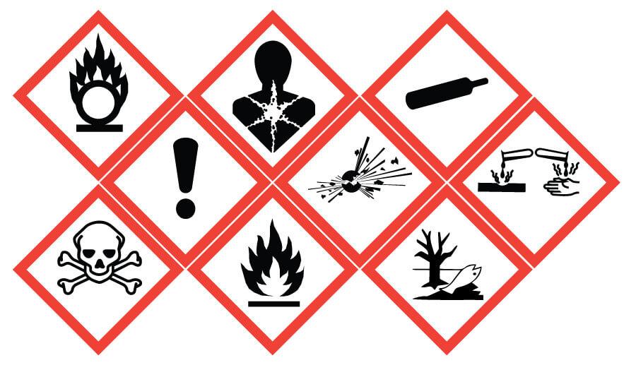 اهمیت توجه به علائم درج شده بر روی مواد شیمیایی